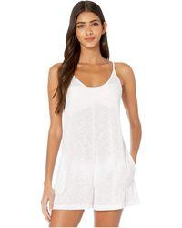 Becca Breezy Basics Short Romper Cover-up - White