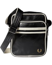 Fred Perry - Twin Tipped Crossbody Bag (black/ecru) Bags - Lyst