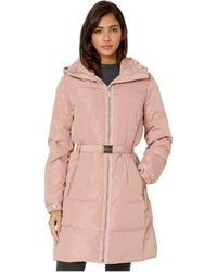 Kate Spade Belted Hooded Down - Pink