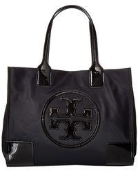 Tory Burch - Ella Patent Mini Tote (black) Tote Handbags - Lyst