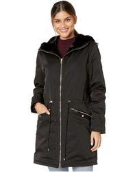 Love Token Tayna Faux Fur Reversible Hooded Jacket - Black