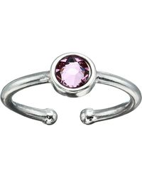 ALEX AND ANI June Birthstone Adjustable Ring Ring - Metallic