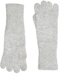UGG Full Knit Gloves With Tech Tips - Gray