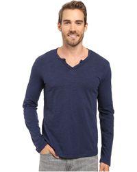 Mod-o-doc - Les Carillo Long Sleeve Notch Slub Jersey V-neck (mulberry) Men's Clothing - Lyst