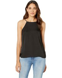 1.STATE - High Neck Cami W/ Lace-up Back Detail (rich Black) Women's Sleeveless - Lyst
