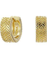 Cole Haan - Basket Weave Huggy Earrings (gold) Earring - Lyst