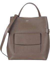 Reiss Freya Bucket Bag - Gray