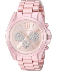 Michael Kors Bradshaw Pink Aluminum Link Bracelet Chronograph