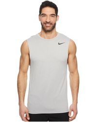 0414a8e4ca843f Nike - Dry Training Tank (vast Grey atmosphere Grey black) Men s Sleeveless