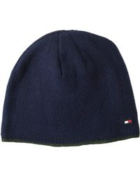 Tommy Hilfiger - Fleece Lined Tipped Beanie (navy) Beanies - Lyst