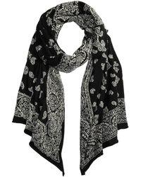 Polo Ralph Lauren Patchwork Knit Bandana Oblong - Black