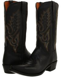 Lucchese - M1007 (black Madras Goat) Cowboy Boots - Lyst