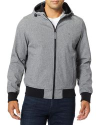 Dockers Chase Performance Soft Shell Hooded Bomber Jacket - Gray