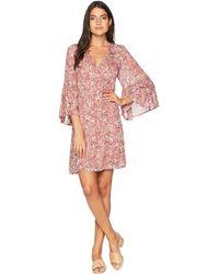 Lucky Brand - Printed Bell Sleeve Dress - Lyst
