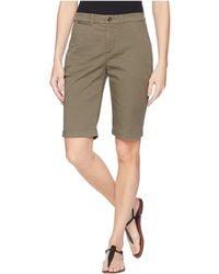 Lauren by Ralph Lauren - Stretch Cotton Chino Shorts - Lyst