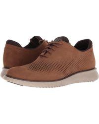 Cole Haan - 2.zerogrand Lsr Wing (bourbon Nubuck/cobblestone) Men's Shoes - Lyst