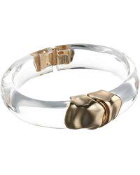 Alexis Bittar Sculptural Metal Hinge Bracelet Bracelet - White