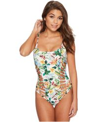 Red Carter - Martinique Strappy Side Cut-out Maillot - Lyst