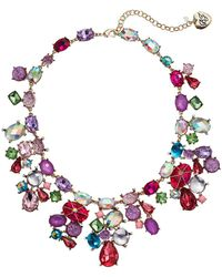 Betsey Johnson - Mixed Stone Cluster Bib Necklace (multi) Necklace - Lyst