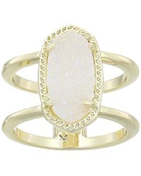 Kendra Scott - Elyse Ring (rose Gold/iridescent Drusy) Ring - Lyst