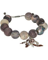 Chan Luu - Matte Porcelain Jasper Pull Tie Bracelet - Lyst