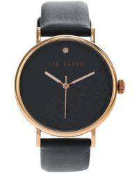 Ted Baker 37 Mm Phylipa Flowers 3-hand Watch - Black