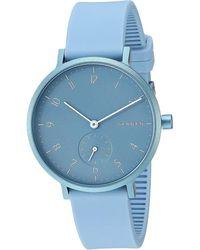 Skagen Aaren Kulor 36mm Three-hand Silicone Watch Watches - Blue