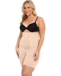 Spanx - Plus Size Oncore High-waisted Mid-thigh Short (very Black) Women's Underwear - Lyst