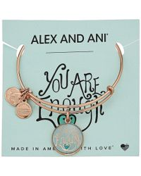 ALEX AND ANI - Words Are Powerful - You Are Enough Bangle (shiny Rose Gold) Bracelet - Lyst