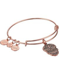 ALEX AND ANI - Color Infusion Calavera Bangle (shiny Gold) Bracelet - Lyst