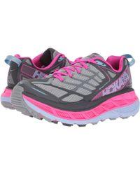 Hoka One One - Stinson Atr 4 (blue Fog/boysenberry) Women's Running Shoes - Lyst