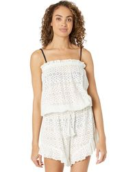 Polo Ralph Lauren Stencil Floral Eyelet Romper Jumpsuit & Rompers One Piece - White