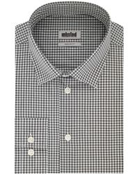 Kenneth Cole Dress Shirt Regular Fit Check - Black