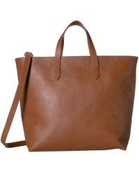 Madewell The Zip Top Transport Carryall Handbags - Brown
