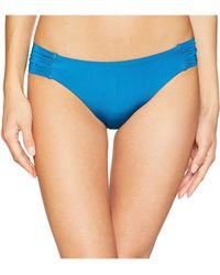 Trina Turk - Getaway Solids Shirred Side Hipster Bottoms (turquoise) Women's Swimwear - Lyst