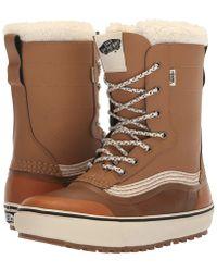 e8255a8859 Vans - Standardtm Snow Boot  18 (black grey (pat Moore))