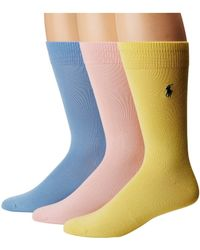 Polo Ralph Lauren - Supersoft Flat Knit 3-pack Socks - Lyst