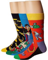 Happy Socks - Beatles Ep Collector's Box 3-pack (assorted) Women's Crew Cut Socks Shoes - Lyst