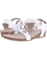 Aetrex - Jillian Quarter Strap (denim) Women's Sandals - Lyst