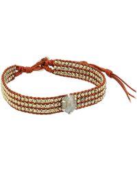Chan Luu - Pyrite Mix Single Wrap Bracelet (pyrite Mix) Bracelet - Lyst