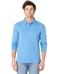 Mod-o-doc Salt Point Long Sleeve Slub Jersey Polo - Blue