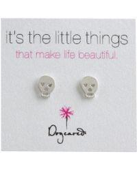 Dogeared - It's The Little Things Earrings Skull - Lyst