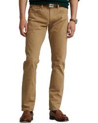Polo Ralph Lauren - Varick Slim Straight Jean In Hdn Khaki Stretch - Lyst