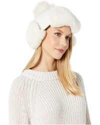 UGG Knit And Faux Fur Knit Trapper - White
