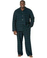 L.L. Bean Scotch Plaid Flannel Pajamas Tall - Black