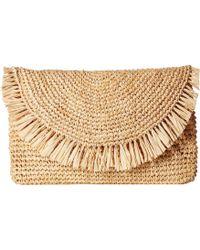 Hat Attack - Sunshine Clutch (natural/navy) Clutch Handbags - Lyst