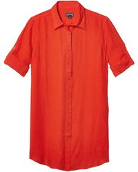 Vilebrequin - Fragrance Solid Linen Cover-up Dress Swimwear - Lyst