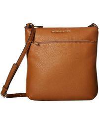 MICHAEL Michael Kors - Small Flat Crossbody (acorn) Cross Body Handbags - Lyst