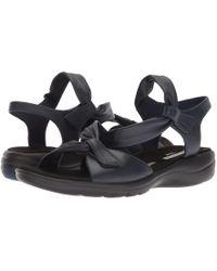 Clarks - Saylie Moon (pewter Metallic Leather) Women's Sandals - Lyst