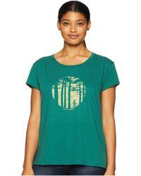 Life Is Good. - Mountain Bike Woods Breezy T-shirt (forest Green) Women's T Shirt - Lyst